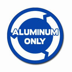 AI-rdbin038-01- Recycling 6&quot; Vinyl Circle Decal, Recycling Stickers, Butt-cut Recycling Labels, Vinyl Recycling Decals, Vinyl Recycling Labels, Vinyl Recycling Stickers