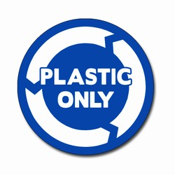 AI-rdbin038-03- Recycling 6&quot; Vinyl Circle Decal, Recycling Stickers, Butt-cut Recycling Labels, Vinyl Recycling Decals, Vinyl Recycling Labels, Vinyl Recycling Stickers