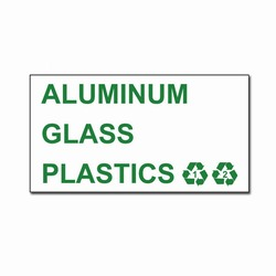 rd120 - Recycling Decal, Recycling Stickers, Butt-cut Recycling Labels, Vinyl Recycling Decals, Vinyl Recycling Labels, Vinyl Recycling Stickers