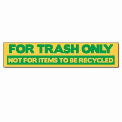 rd143 - Recycling Decal, Recycling Stickers, Butt-cut Recycling Labels, Vinyl Recycling Decals, Vinyl Recycling Labels, Vinyl Recycling Stickers
