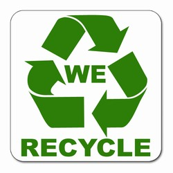 We Recycle Decal