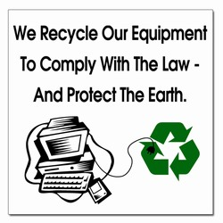 rd018 - Recycling Decal, 11&quot; x 11&quot; , Butt-cut Recycling Labels, Vinyl Recycling Decals, Vinyl Recycling Labels, Vinyl Recycling Stickers