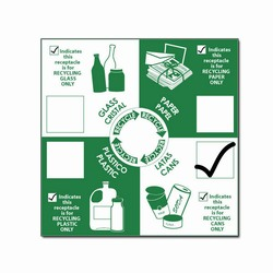 rd100 - Recycling Decal, Recycling Stickers, Butt-cut Recycling Labels, Vinyl Recycling Decals, Vinyl Recycling Labels, Vinyl Recycling Stickers