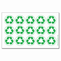 rd105 - Recycling Decal, Recycling Stickers, Butt-cut Recycling Labels, Vinyl Recycling Decals, Vinyl Recycling Labels, Vinyl Recycling Stickers