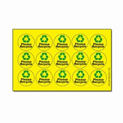 rd106 - Recycling Decal, Recycling Stickers, Butt-cut Recycling Labels, Vinyl Recycling Decals, Vinyl Recycling Labels, Vinyl Recycling Stickers