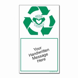 rd109 - Recycling Decal, Recycling Stickers, Butt-cut Recycling Labels, Vinyl Recycling Decals, Vinyl Recycling Labels, Vinyl Recycling Stickers