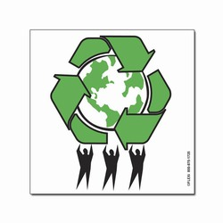 rd110 - Recycling Decal, Recycling Stickers, Butt-cut Recycling Labels, Vinyl Recycling Decals, Vinyl Recycling Labels, Vinyl Recycling Stickers