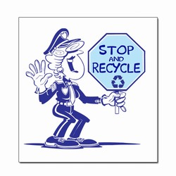 rd114 - Recycling Decal, Recycling Stickers, Butt-cut Recycling Labels, Vinyl Recycling Decals, Vinyl Recycling Labels, Vinyl Recycling Stickers