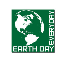 "AI-rdoth140 - 1 Color Earth Day Every Day 3"" Vinyl Decal, Recycling Stickers, Butt-cut Recycling Labels, Vinyl Recycling Decals, Vinyl Recycling Labels, Vinyl Recycling Stickers"