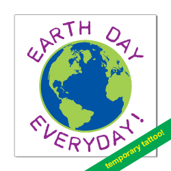 AI-rh600- Earth Day Temporary Tattoo, earth day tattoo, school earth day, earth day everyday