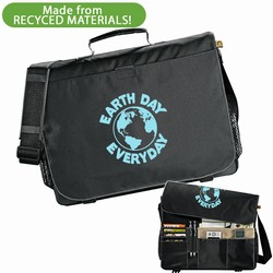 rh026-07 - 51% Recycled Messenger Bag, Recycling Incentive, Recycling Promotional Ideas, Recycling Promo Gifts, Recycling Gifts for Tradeshows, recycling ad specialties