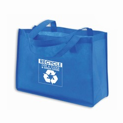 AI-rhbag028-2 - Recycling Polypropylene Tote - Recycling Brown Paper Shopping Bag 8&quot; x 10&quot;, Recycling Incentive, Recycling Promotional Ideas, Recycling Promo Gifts, Recycling Gifts for Tradeshows, recycling ad specialties