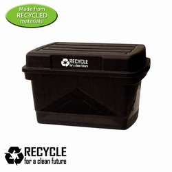rh036-11 - Recycling 18gallon Tote w/Lid, Recycling Incentive, Recycling Promotional Ideas, Recycling Promo Gifts, Recycling Gifts for Tradeshows, recycling ad specialties