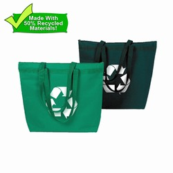 rh060-01 - Recycling Eco-Friendly Large Tote, Recycling Promo Gifts, Recycling Gifts for Tradeshows, recycling ad specialties