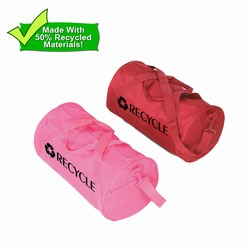 rh060-06 - Recycling Eco-Friendly Barrel Duffle Bag, Recycling Promo Gifts, Recycling Gifts for Tradeshows, recycling ad specialties