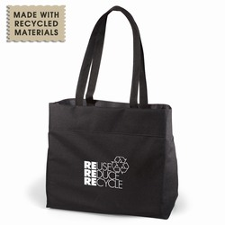rh060-09 - Recycling Eco-Friendly Expo Tote, Recycling Promo Gifts, Recycling Gifts for Tradeshows, recycling ad specialties