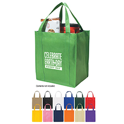 AI-rhbag070-01 Earth Day Everyday Tote Bag 15x13, Recycling Incentive, Recycling Promotional Ideas, Recycling Promo Gifts, Recycling Gifts for Trade shows, recycling ad specialties