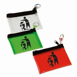 rh238 - Recycling Handout Zippered Pouch, Recycling Incentive, Recycling Promotional Ideas, Recycling Promo Gifts, Recycling Gifts for Tradeshows, recycling ad specialties