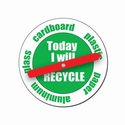 rh044 - Recycling Handout Spinner Button, Recycling Incentive, Recycling Promotional Ideas, Recycling Promo Gifts, Recycling Gifts for Tradeshows, recycling ad specialties