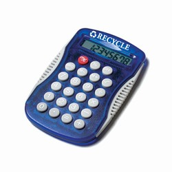 rh063-02 - Recycling Sport-Grip Calculator, Water Conservation Handouts, Energy Conservation Gift, Energy Conservation Incentive