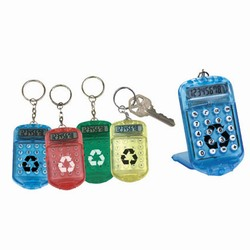 rh073 - Recycling Translucent Calculator Keychain, Recycling Incentive, Recycling Promotional Ideas, Recycling Promo Gifts, Recycling Gifts for Tradeshows, recycling ad specialties