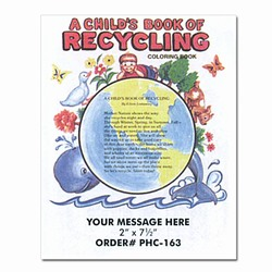"rh030-05 - Recycling Coloring Book 8.5"" x 11"", Recycling Incentive, Recycling Promotional Ideas, Recycling Promo Gifts, Recycling Gifts for Tradeshows, recycling ad specialties"