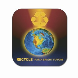 rh007 - Recycling Handout Coaster, Recycling Incentive, Recycling Promotional Ideas, Recycling Promo Gifts, Recycling Gifts for Tradeshows, recycling ad specialties