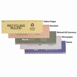rh018 - Recycling Handout Ruler, Recycling Incentive, Recycling Promotional Ideas, Recycling Promo Gifts, Recycling Gifts for Tradeshows, recycling ad specialties