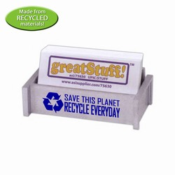 rh036-06 - Recycling Business Card Holder, Recycling Incentive, Recycling Promotional Ideas, Recycling Promo Gifts, Recycling Gifts for Tradeshows, recycling ad specialties
