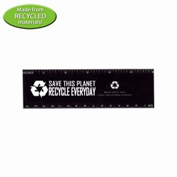 "rh036-12 - Recycling 6"" Ruler, Recycling Incentive, Recycling Promotional Ideas, Recycling Promo Gifts, Recycling Gifts for Tradeshows, recycling ad specialties"