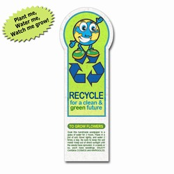 rh058-02 - Recycling 'Plant-A-Seed' Bookmarkrh058-02 - Recycling 'Plant-A-Seed' Bookmarkrh058-02 - Recycling 'Plant-A-Seed' Bookmark, Recycling Promo Gifts, Recycling Gifts for Tradeshows, recycling ad specialties