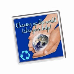 rh218 - Recycling Coaster Handout, Recycling Incentive, Recycling Promotional Ideas, Recycling Promo Gifts, Recycling Gifts for Tradeshows, recycling ad specialties