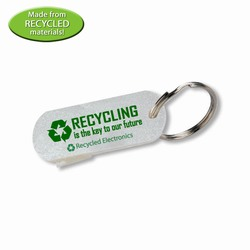 rh036-09 - Recycling Can-Opener Keyring, Recycling Incentive, Recycling Promotional Ideas, Recycling Promo Gifts, Recycling Gifts for Tradeshows, recycling ad specialties