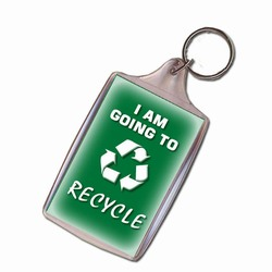 rh041 - Recycling Handout Key Chain, Recycling Incentive, Recycling Promotional Ideas, Recycling Promo Gifts, Recycling Gifts for Tradeshows, recycling ad specialties