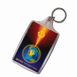 rh041-06 - Recycling Handout Key Chain, Recycling Incentive, Recycling Promotional Ideas, Recycling Promo Gifts, Recycling Gifts for Tradeshows, recycling ad specialties