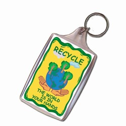 rh041-07 - Recycling Handout Key Chain, Recycling Incentive, Recycling Promotional Ideas, Recycling Promo Gifts, Recycling Gifts for Tradeshows, recycling ad specialties
