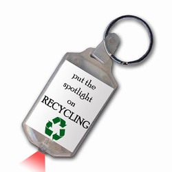rh042 - Recycling Handout Key Chain, Recycling Incentive, Recycling Promotional Ideas, Recycling Promo Gifts, Recycling Gifts for Tradeshows, recycling ad specialties