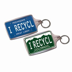 rh045 - Recycling Handout Key Chain, Recycling Incentive, Recycling Promotional Ideas, Recycling Promo Gifts, Recycling Gifts for Tradeshows, recycling ad specialties