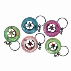 rh072 - Recycling SuperBounce Ball LED Keyring, Recycling Incentive, Recycling Promotional Ideas, Recycling Promo Gifts, Recycling Gifts for Tradeshows, recycling ad specialties