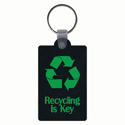 AI-rhkey081-01 - Recycling is Key Recycled Tire Key Ring, Recycling Incentive, Recycling Promotional Ideas, Recycling Promo Gifts, Recycling Gifts for Tradeshows, recycling ad specialties