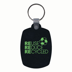 AI-rhkey081 - Reduce Reuse Recycled Tire Key Ring, Recycling Incentive, Recycling Promotional Ideas, Recycling Promo Gifts, Recycling Gifts for Tradeshows, recycling ad specialties