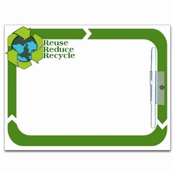 rh049 - Recycling Wipe-Off MEMO BOARD 8.5x11, Recycling Incentive, Recycling Promotional Ideas, Recycling Promo Gifts, Recycling Gifts for Tradeshows, recycling ad specialties