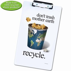 rh052-05 - Recycling Legal size low-profile Clipboard, Recycling Incentive, Recycling Promotional Ideas, Recycling Promo Gifts, Recycling Gifts for Tradeshows, recycling ad specialties