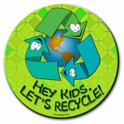 "rh002 - Recycling Handout 8"" round MOUSEPAD, Recycling Incentive, Recycling Promotional Ideas, Recycling Promo Gifts, Recycling Gifts for Tradeshows, recycling ad specialties"