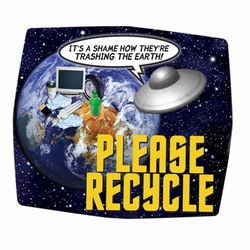 "rh002-03 - Recycling Fabric MOUSEPAD 8"" x 9.5"", Recycling Incentive, Recycling Promotional Ideas, Recycling Promo Gifts, Recycling Gifts for Tradeshows, recycling ad specialties"