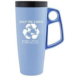 rh015 - Recycling Handout Travel Mug, Recycling Incentive, Recycling Promotional Ideas, Recycling Promo Gifts, Recycling Gifts for Tradeshows, recycling ad specialties