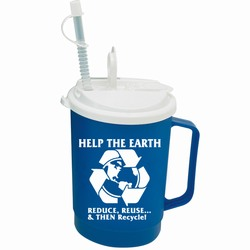 rh015 - Recycling Handout Travel Mug, Recycling Incentive, Recycling Promotional Ideas, Recycling Promo Gifts, Recycling Gifts for Tradeshows, recycling ad specialties