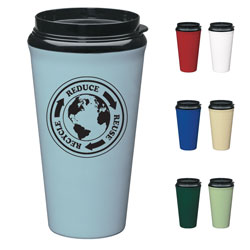AI-rhmug028-04 Reduce Reuse Recycle Biodegradable Travel Mug, Recycling Incentive, Recycling Promotional Ideas, Recycling Promo Gifts, Recycling Gifts for Tradeshows, recycling ad specialties