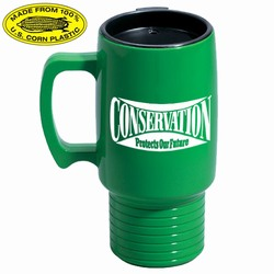 rh051-01 - Recycling Commuter Corn Mug 17oz., Recycling Incentive, Recycling Promotional Ideas, Recycling Promo Gifts, Recycling Gifts for Tradeshows, recycling ad specialties