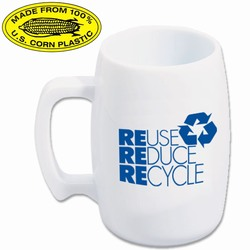rh051-04 - Recycling Corn Mug 16oz., Recycling Incentive, Recycling Promotional Ideas, Recycling Promo Gifts, Recycling Gifts for Tradeshows, recycling ad specialties